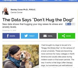 And what if your dog DOESN'T like hugs?